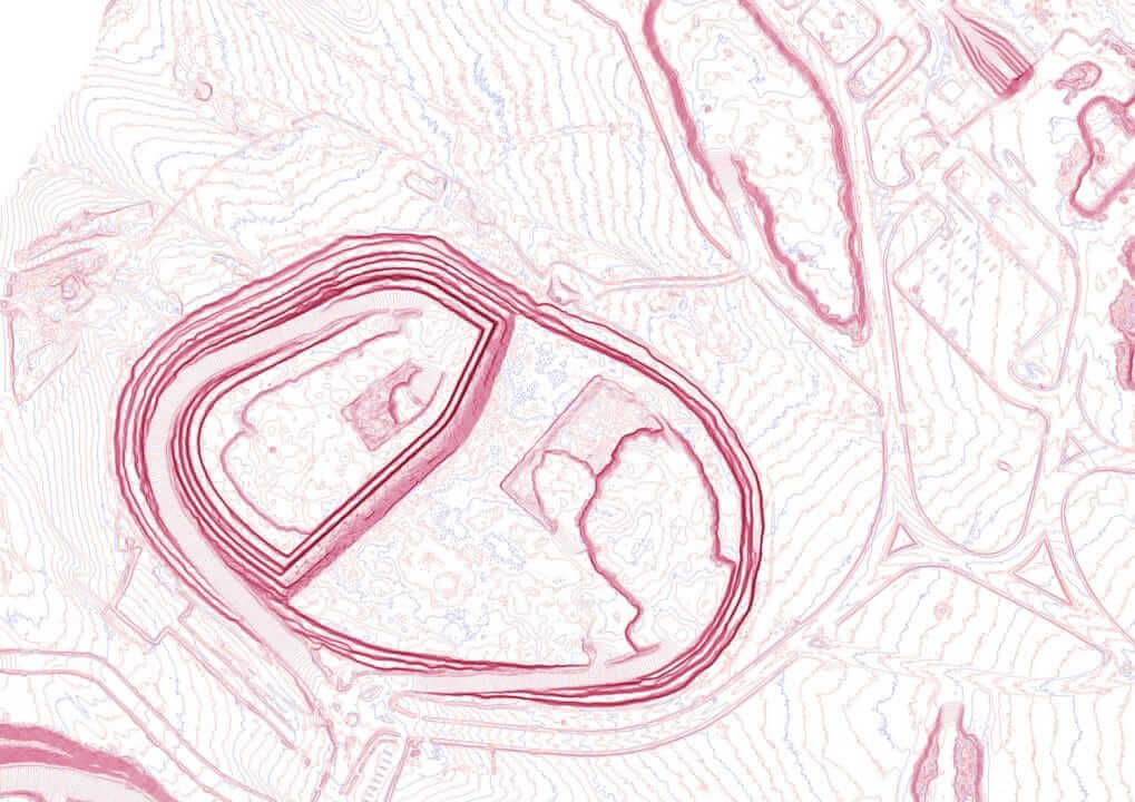 Aerial map of a uranium mine