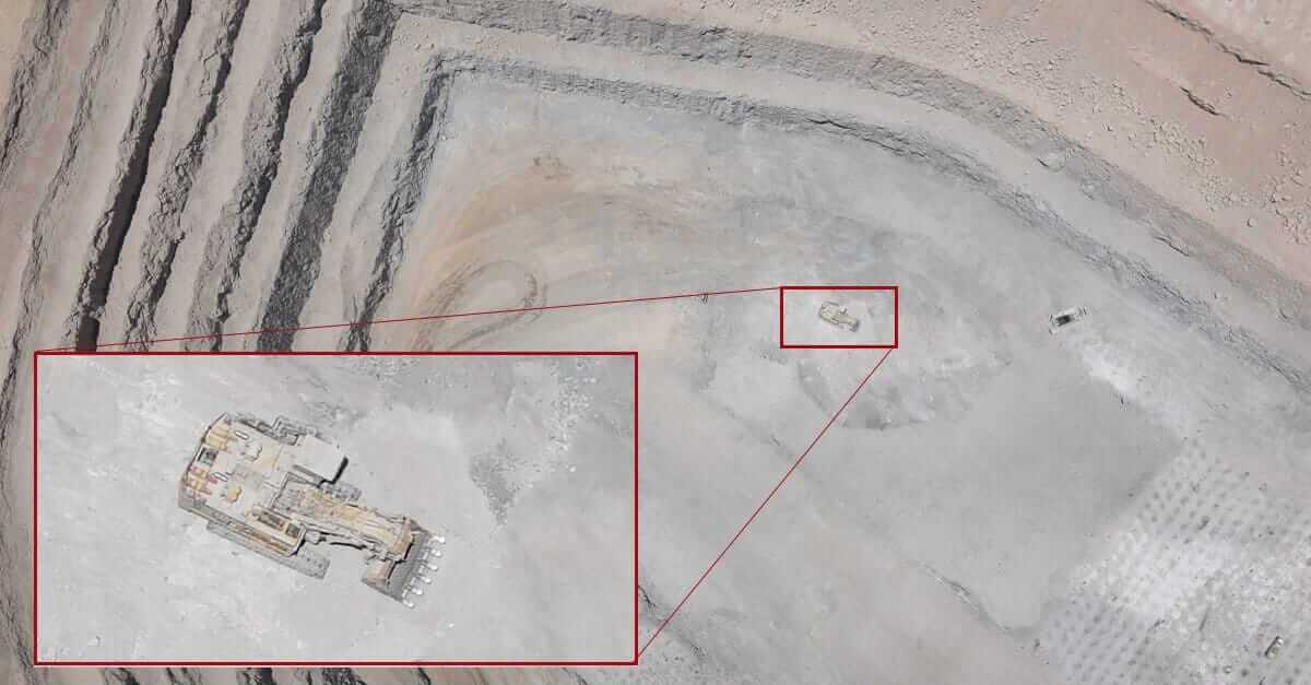 Low GSD aerial map of a mine